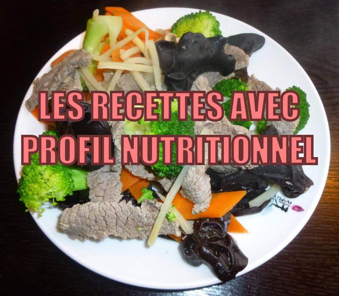 Recettes minceur avec informations nutritionnelles