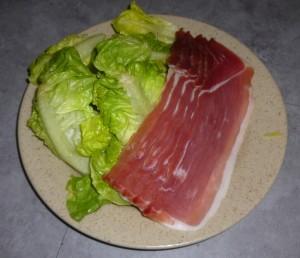 Salade de jambon cru