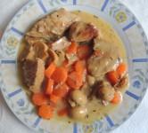 Blanquette de veau au chou rouge