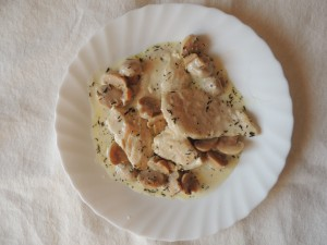 Escalope de poulet à la crème